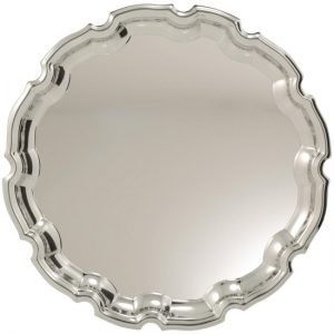 Nickel Plated Tray Ornate